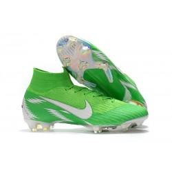 Nouveau Chaussures de football Nike Mercurial Superfly VI 360 Elite FG Argent Vert
