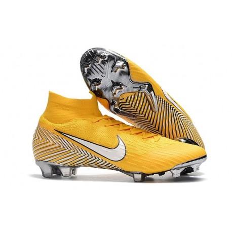 Nouveau Chaussures de football Nike Mercurial Superfly VI 360 Elite FG Jaune Amarillo Noir Blanc