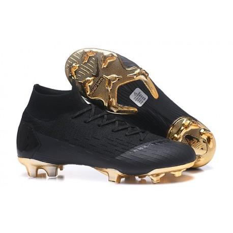 Nouveau Chaussures de football Nike Mercurial Superfly VI 360 Elite FG Or Noir