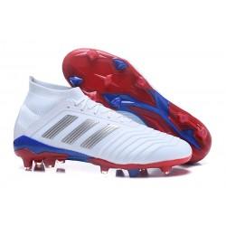 Nouvelles Crampons Football adidas Predator Telstar 18.1 FG Argent Rouge Bleu