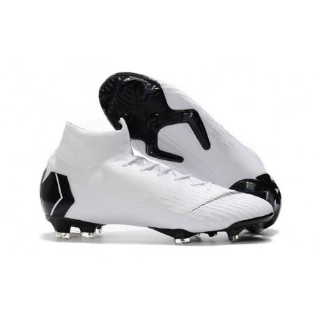 Nouveau Chaussures de football Nike Mercurial Superfly VI 360 Elite FG Blanc Noir