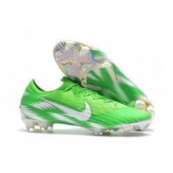 Chaussures de Football - Nike Mercurial Vapor XII Elite FG Argent Vert