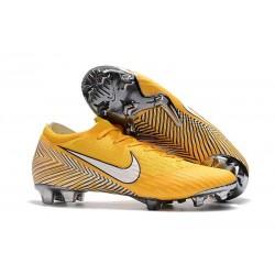 Chaussures de Football - Nike Mercurial Vapor XII Elite FG Jaune Amarillo Noir Blanc