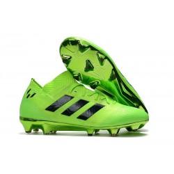 Crampons Foot pour Hommes Adidas Nemeziz Messi 18.1 FG Vert Noir
