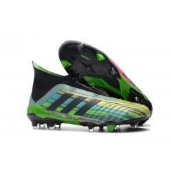 Nouveu Chaussures de Football adidas Predator 18+ FG Vert Noir Jaune