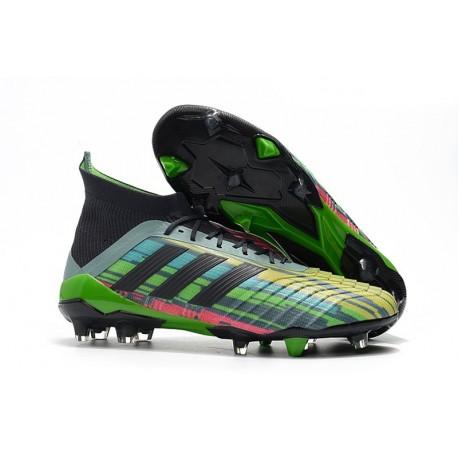 Nouvelles Crampons Football adidas Predator Telstar 18.1 FG Noir Cuivre Gris