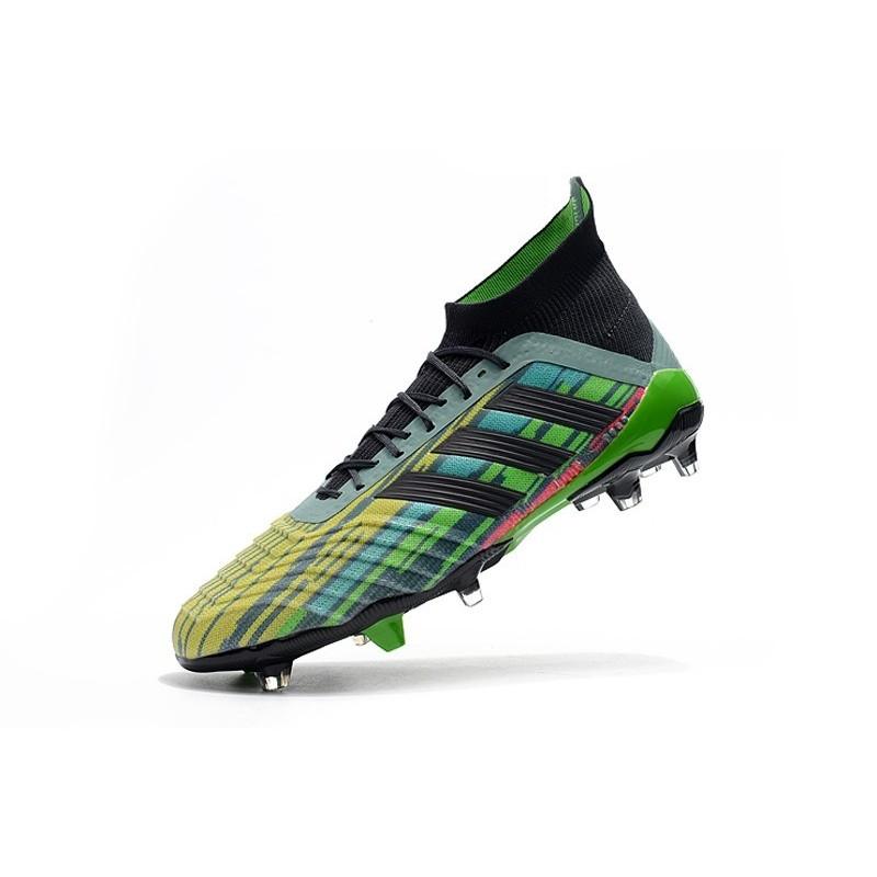 best service 8aac0 1cdbb ... Nouvelles Crampons Football adidas Predator Telstar 18.1 FG Noir Cuivre  Gris ...