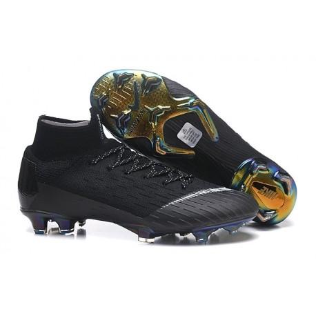 Nouveau Chaussures de football Nike Mercurial Superfly VI Club Ronaldo FG Jade Or Vif Noir