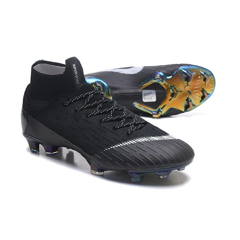 reputable site 4733c f7516 ... Nouveau Chaussures de football Nike Mercurial Superfly VI Club Ronaldo  FG Jade Or Vif Noir ...