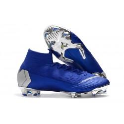 Nouveau Chaussures de football Nike Mercurial Superfly 6 FG Noir Blanc