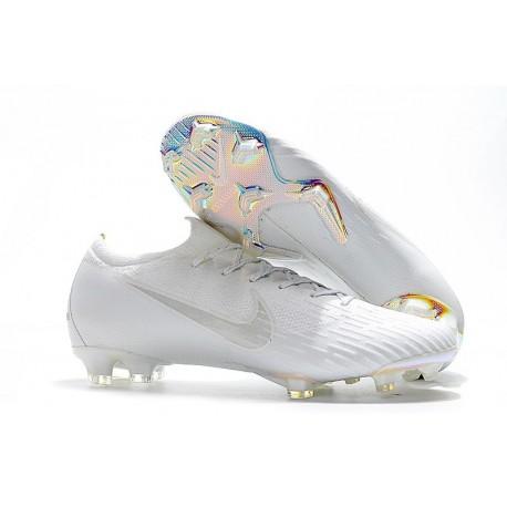 Crampon de Foot Nike Mercurial Vapor XII Elite FG Argent Bleu Jaune