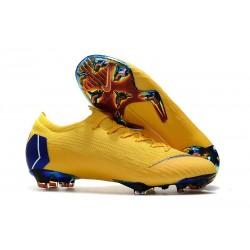 Chaussures de Football - Nike Mercurial Vapor XII Elite FG Jaune Bleu