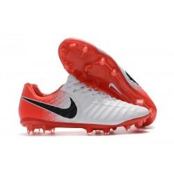 Nouveau Crampons Foot Nike Tiempo Legend VII FG Blanc Rouge Noir