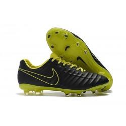 Nouveau Crampons Foot Nike Tiempo Legend VII FG Noir Jaune