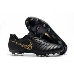 Nouveau Crampons Foot Nike Tiempo Legend VII FG LÉOpard D'or Noir