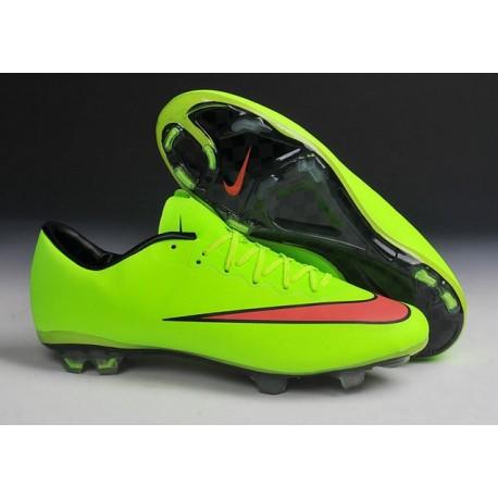 Chaussures de Football Nike Mercurial Vapor 10 FG Vert Rouge