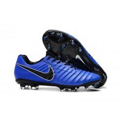 Nouveau Crampons Foot Nike Tiempo Legend VII FG Bleu Noir