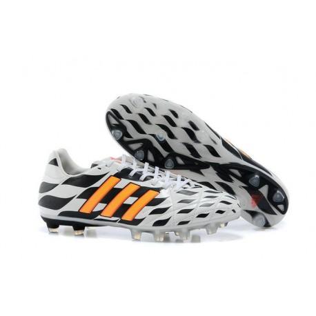 Nouveau Crampons Adidas Adipure 11Pro TRX FG Homme Blanc Noir Orange