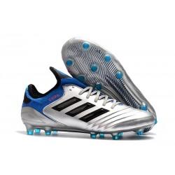 Chaussures de Football - Neuf Adidas Copa 18.1 FG Argent Métallique Noir Bleu