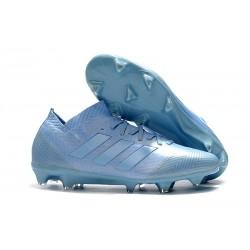 Crampons Foot pour Hommes Adidas Nemeziz Messi 18.1 FG Bleu