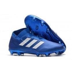 Neuf - Crampons de football Adidas Nemeziz 18+ FG - Bleu Blanc