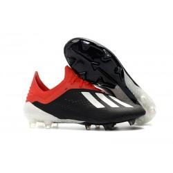 Nouveau Chaussures de football Adidas X 18.1 FG - Noir Blanc Rouge