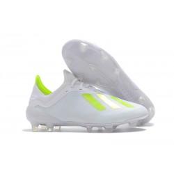 Nouveau Chaussures de football Adidas X 18.1 FG - Blanc Jaune