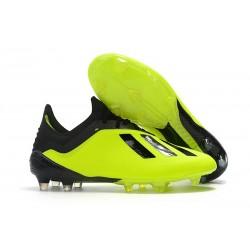 Nouveau Chaussures de football Adidas X 18.1 FG - Jaune Noir
