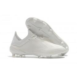Nouveau Chaussures de football Adidas X 18.1 FG - Blanc Cassé