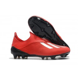 Neuf Crampons Foot - Adidas X 18+ FG - Argent Rouge