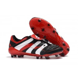 Adidas Crampons Foot Pour Hommes - Predator Accelerator Electricity FG Noir Blanc Rouge