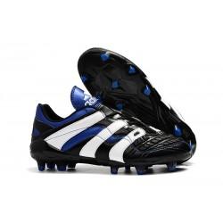 Adidas Crampons Foot Pour Hommes - Predator Accelerator Electricity FG Noir Blanc Bleu