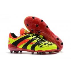 Adidas Crampons Foot Pour Hommes - Predator Accelerator Electricity FG Jaune Rouge Noir